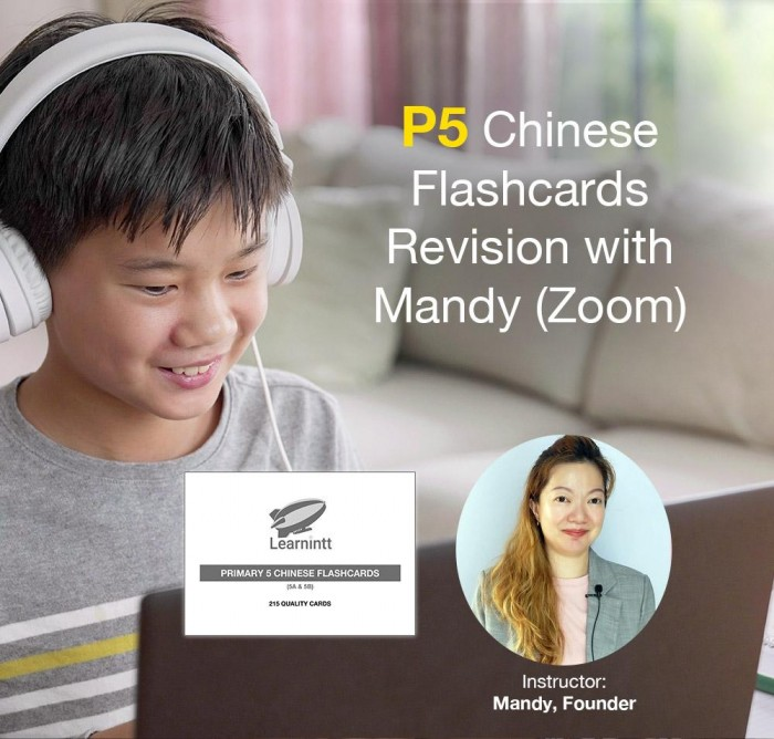 P5 Chinese Flashcards Revision with Mandy (Zoom)