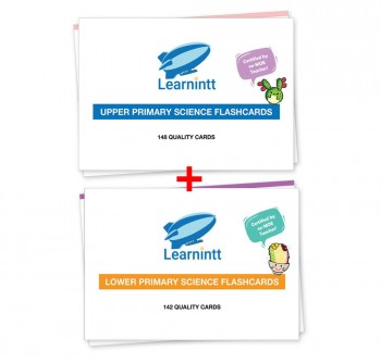 PSLE Lower Primary + Upper Primary Science Flashcards V4 - Bundle